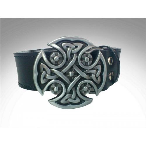 Cinturon de cuero hebilla Blade