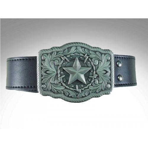 Cinturon de cuero hebilla star