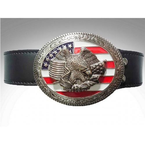 Cinturon de cuero hebilla freedom trophy