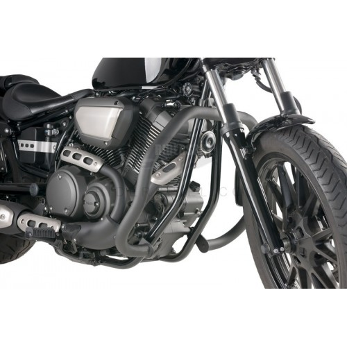 Defensas Acero lacado negro Yamaha