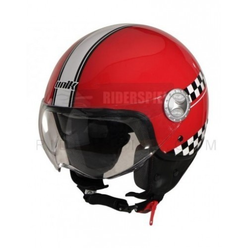 Casco jet Unik Negro brillo