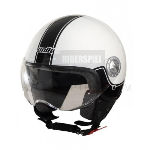 Casco jet Unik Rojo brillo