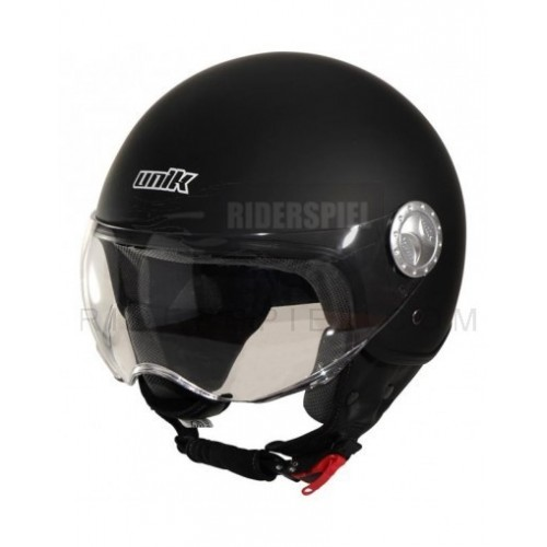 Casco jet Unik Blanco brillo