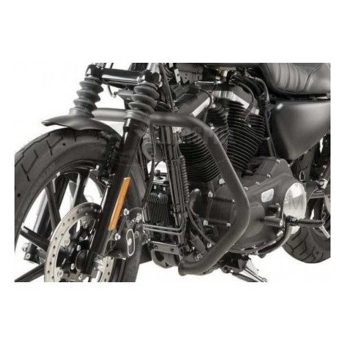 Defensas acero lacado negro Harley Davidson