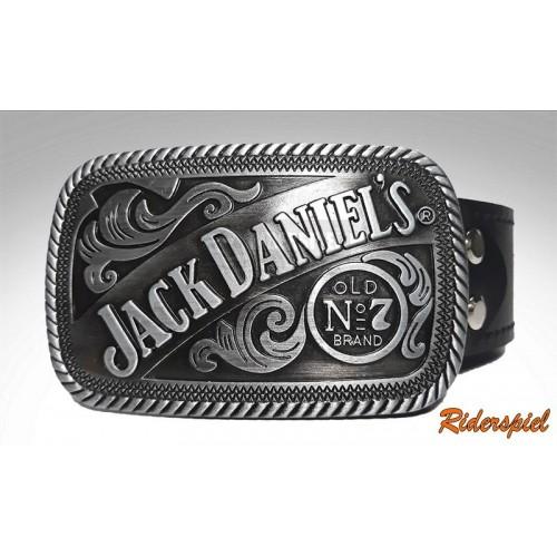 Cinturon de cuero hebilla Jack Daniel's
